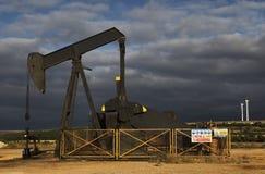 Campo da gasolina Fotografia de Stock Royalty Free