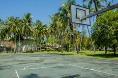 Campo da gioco di pallacanestro alle giungle Immagini Stock Libere da Diritti
