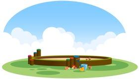 Campo da gioco per bambini illustrazione di stock