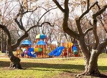 Campo da gioco per bambini Fotografia Stock Libera da Diritti