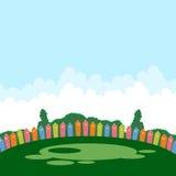 Campo da gioco per bambini in estate illustrazione di stock