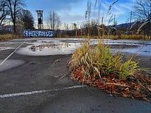 Campo da giuoco abbandonato fotografie stock libere da diritti