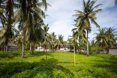 Campo da giuoco - campo di football americano fra le palme nei tropici Immagini Stock