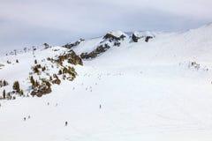 Campo da giuoco degli sport invernali a Mammoth Mountain, California U.S.A. Immagine Stock Libera da Diritti