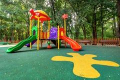 Campo da giuoco dei bambini nel parco Fotografia Stock Libera da Diritti