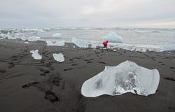 Campo da giuoco della laguna del ghiacciaio immagine stock