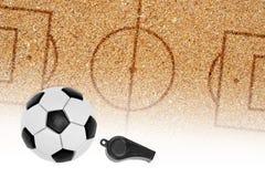 Campo da giuoco di calcio per calcio della spiaggia Immagini Stock