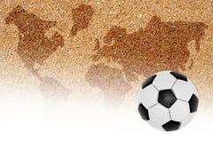 Campo da giuoco di calcio per calcio della spiaggia Fotografie Stock