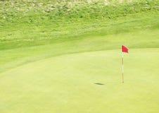 Campo da giuoco di golf Fotografie Stock Libere da Diritti
