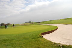 Campo da giuoco di golf Immagini Stock Libere da Diritti
