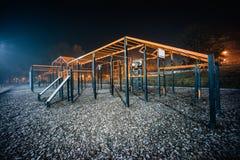 Campo da giuoco di notte di allenamento di sport immagine stock