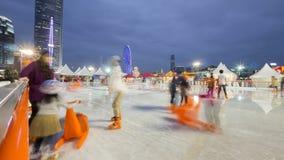 Campo da giuoco di pattinaggio su ghiaccio al grande carnevale europeo 2014, Hong Kong Immagine Stock