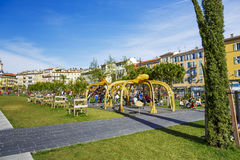Campo da giuoco a passeggiata du Paillon in Nizza Immagini Stock
