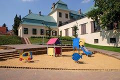 Campo da giuoco a progettazione di Zsolnay e centro espositivo a Pecs Ungheria Fotografia Stock