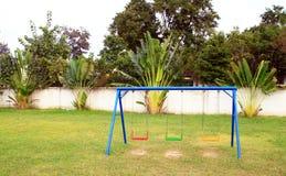 Campo da giuoco senza bambini Fotografia Stock
