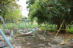 Campo da giuoco verde Fotografie Stock