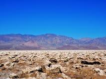 Campo da golf dei diavoli di Death Valley Fotografia Stock