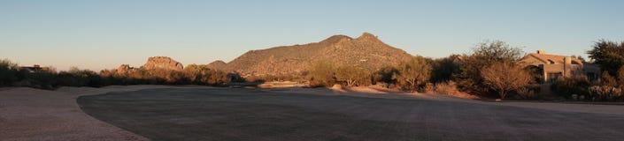 Campo da golf dell'alta società del deserto dell'Arizona Fotografia Stock