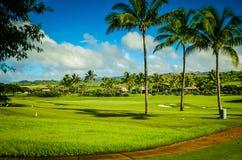 Campo da golf di Kauai, isole hawaiane Immagine Stock