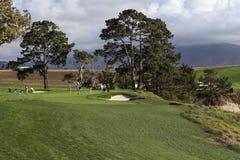 Campo da golf di Pebble Beach, Monterey, California, U.S.A. immagine stock