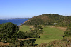 Campo da golf di Pleneuf Val Andre, la Bretagna, Francia Fotografie Stock Libere da Diritti