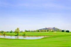 Campo da golf di Qingdao Fotografie Stock