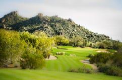 Campo da golf di Scottsdale, Arizona, paesaggio Fotografia Stock