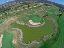 Campo da golf di vista aerea Fotografie Stock Libere da Diritti