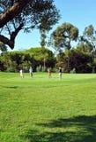 Campo da golf, giocatori, Andalusia, Spagna Immagine Stock