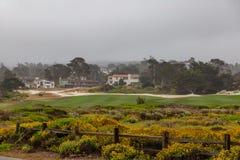 Campo da golf spagnolo di atterraggio fotografia stock