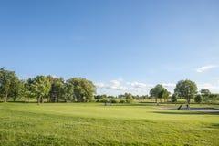 Campo da golf vicino a Wulfen immagini stock libere da diritti