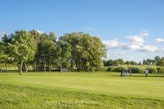 Campo da golf vicino a Wulfen fotografia stock libera da diritti
