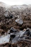 Campo da obsidiana em Islândia fotos de stock royalty free