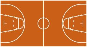 Campo da pallacanestro Immagine Stock