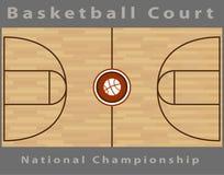 Campo da pallacanestro Fotografie Stock Libere da Diritti