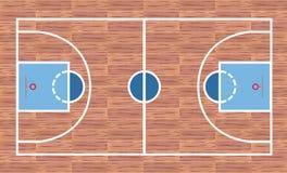 Campo da pallacanestro illustrazione di stock