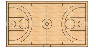 Campo da pallacanestro #3 illustrazione di stock