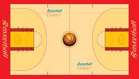 Campo da pallacanestro Fotografia Stock Libera da Diritti