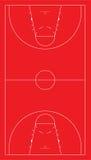 Campo da pallacanestro dell'Ue Fotografia Stock Libera da Diritti