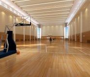 Campo da pallacanestro della rappresentazione Fotografia Stock