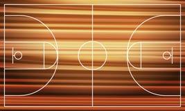 Campo da pallacanestro di legno illustrazione vettoriale
