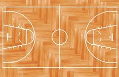 Campo da pallacanestro di legno di vettore illustrazione vettoriale