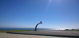 Campo da pallacanestro esterno Fotografie Stock Libere da Diritti