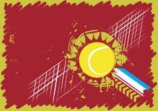 Campo da tennis astratto Immagini Stock Libere da Diritti