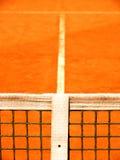 Campo da tennis con la linea e la rete (128) Immagini Stock Libere da Diritti