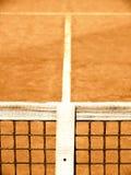 Campo da tennis con la linea e la rete (125) Fotografie Stock Libere da Diritti