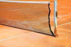 Campo da tennis con rete Fotografia Stock Libera da Diritti