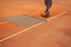 Campo da tennis d'allineamento Immagine Stock Libera da Diritti