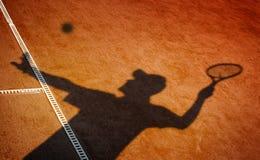 Campo da tennis dell'argilla Fotografie Stock