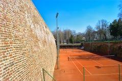 Campo da tennis - Kalemegdan, Belgrado immagini stock